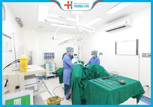 Hệ thống phòng mổ vô khuẩn 1 chiều bệnh viện Hồng Hà