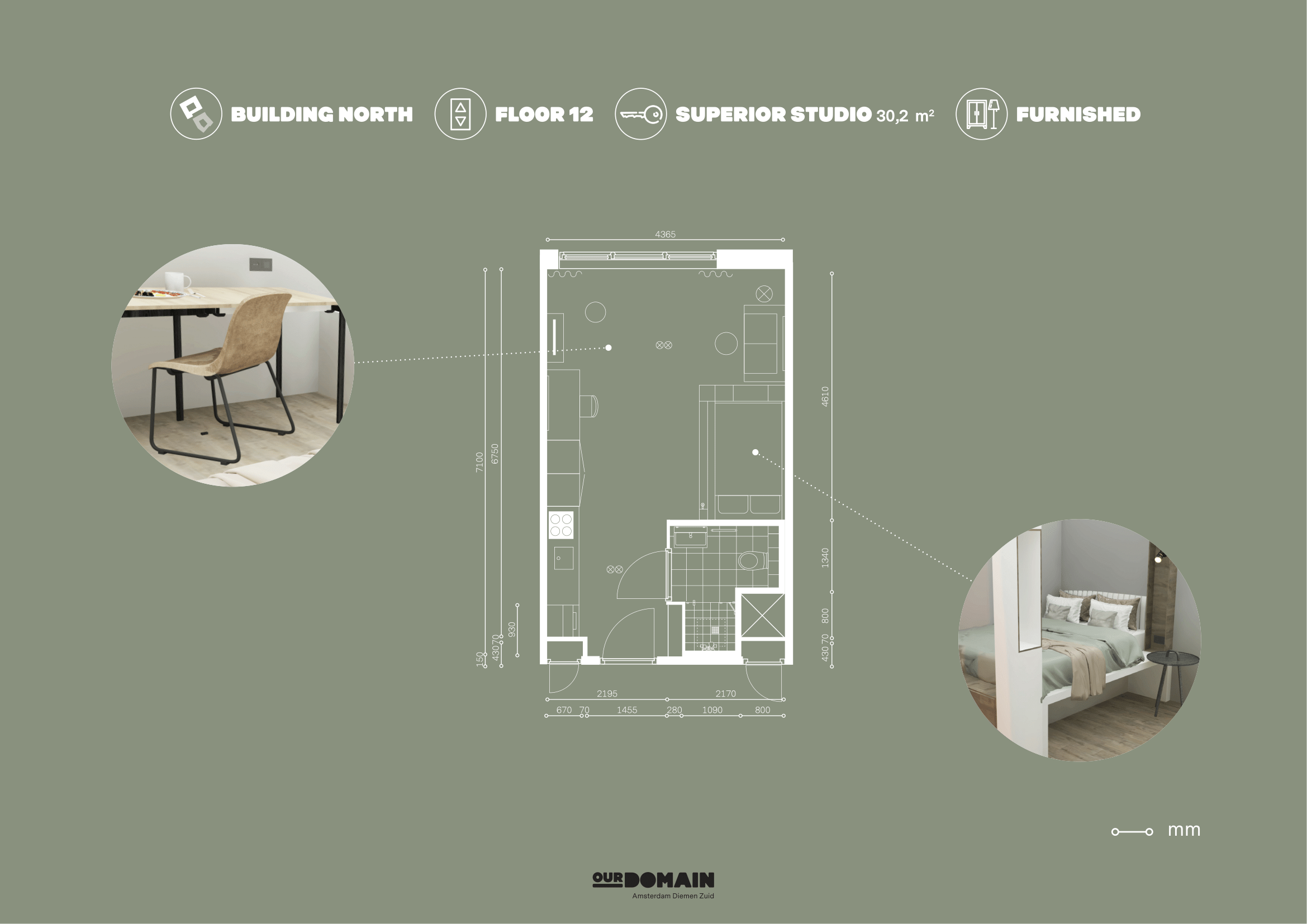 OurDomain Amsterdam Diemen Floorplan