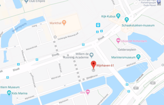 Google Maps screenshot of OurDomain Rotterdam Blaak's position