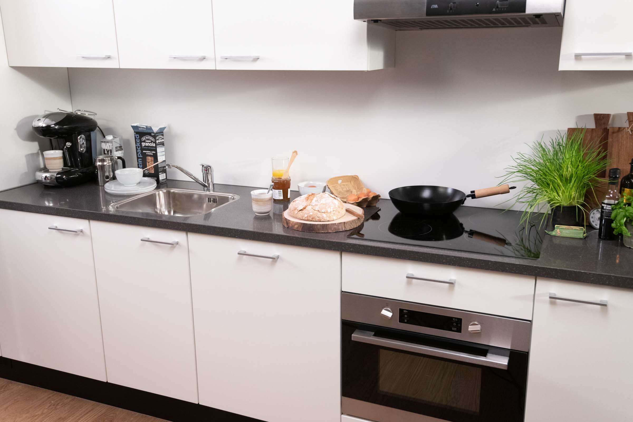 Superior Studio Plus in OurDomain Amsterdam Diemen Interiors - Kitchen