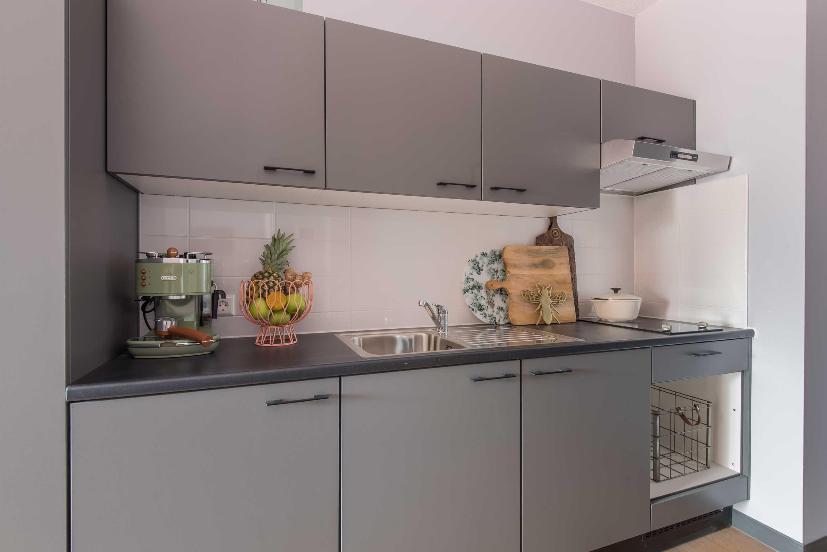 Executive Studio in OurDomain Amsterdam Diemen - interior design of the living room