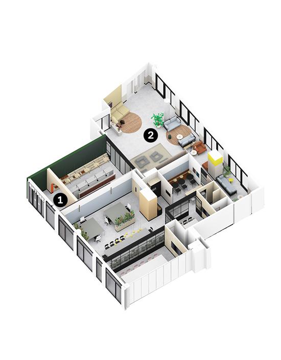 OurDomain Amsterdam Diemen South House ground floor floorplans