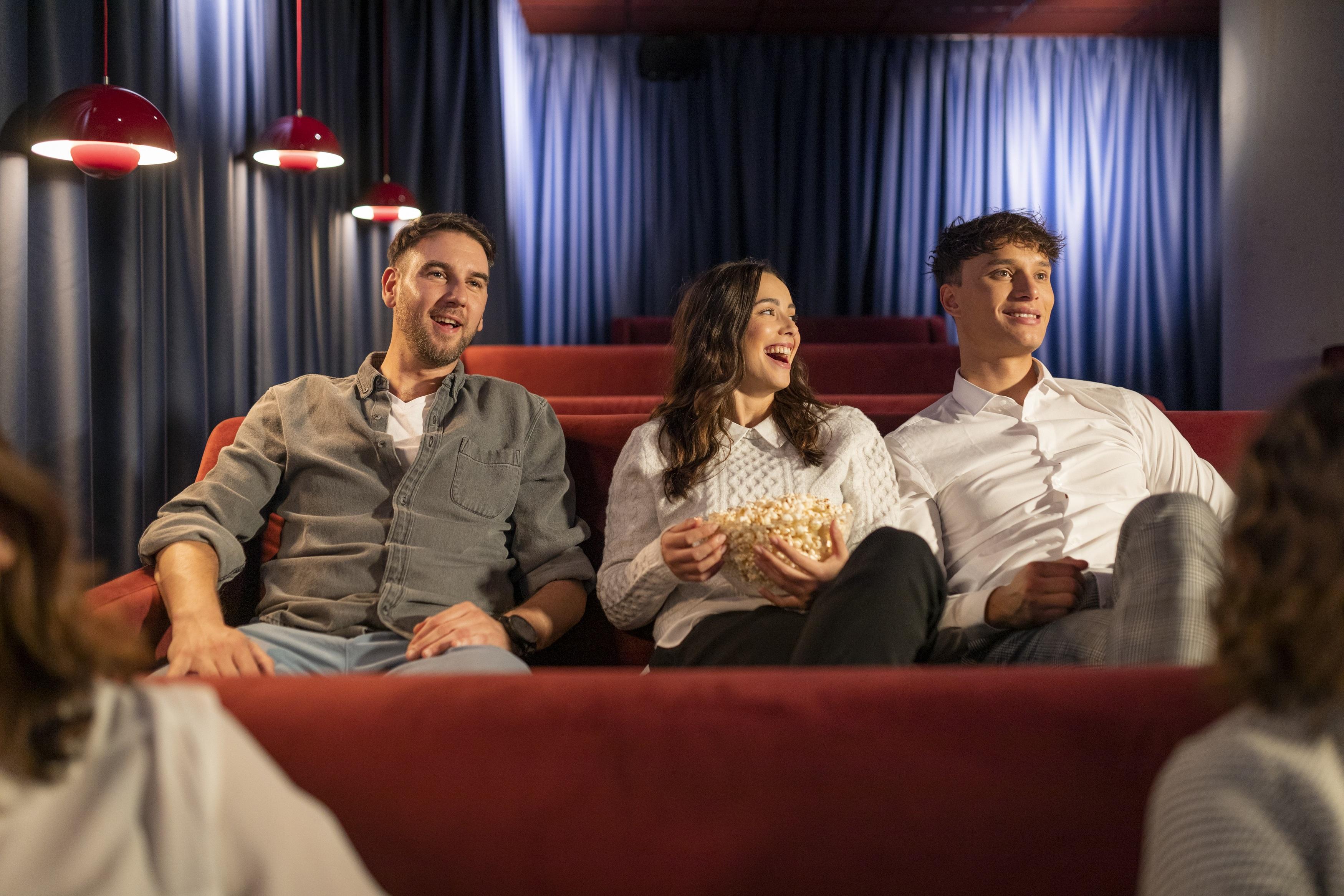 friends sitting in the cinema at OurDomain Amsterdam Diemen