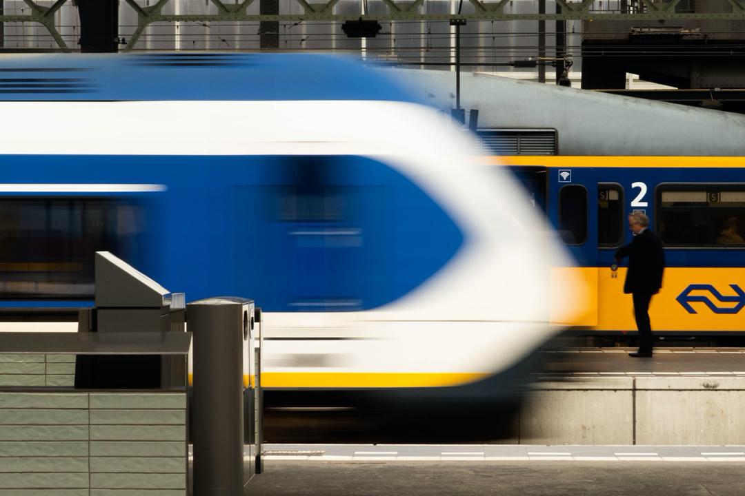 Train moving