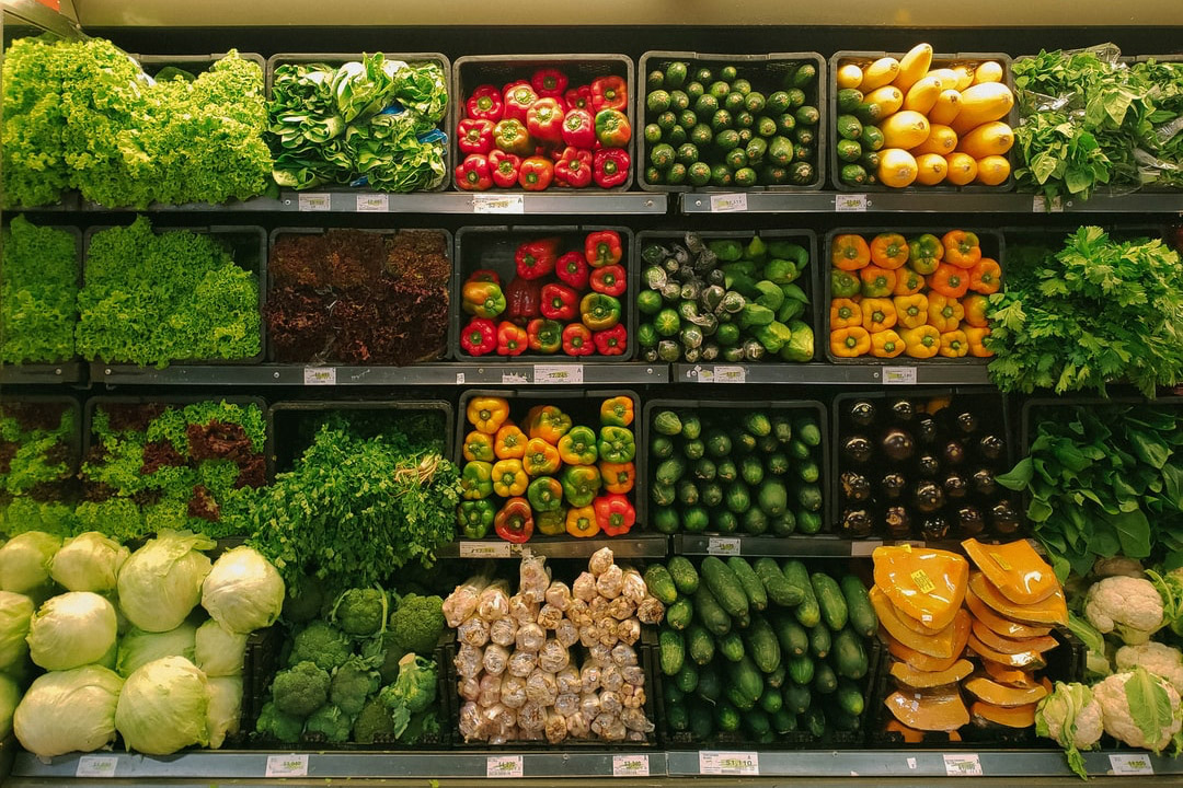 Vegetables in a Supermarket at OurDomain Amsterdam South East