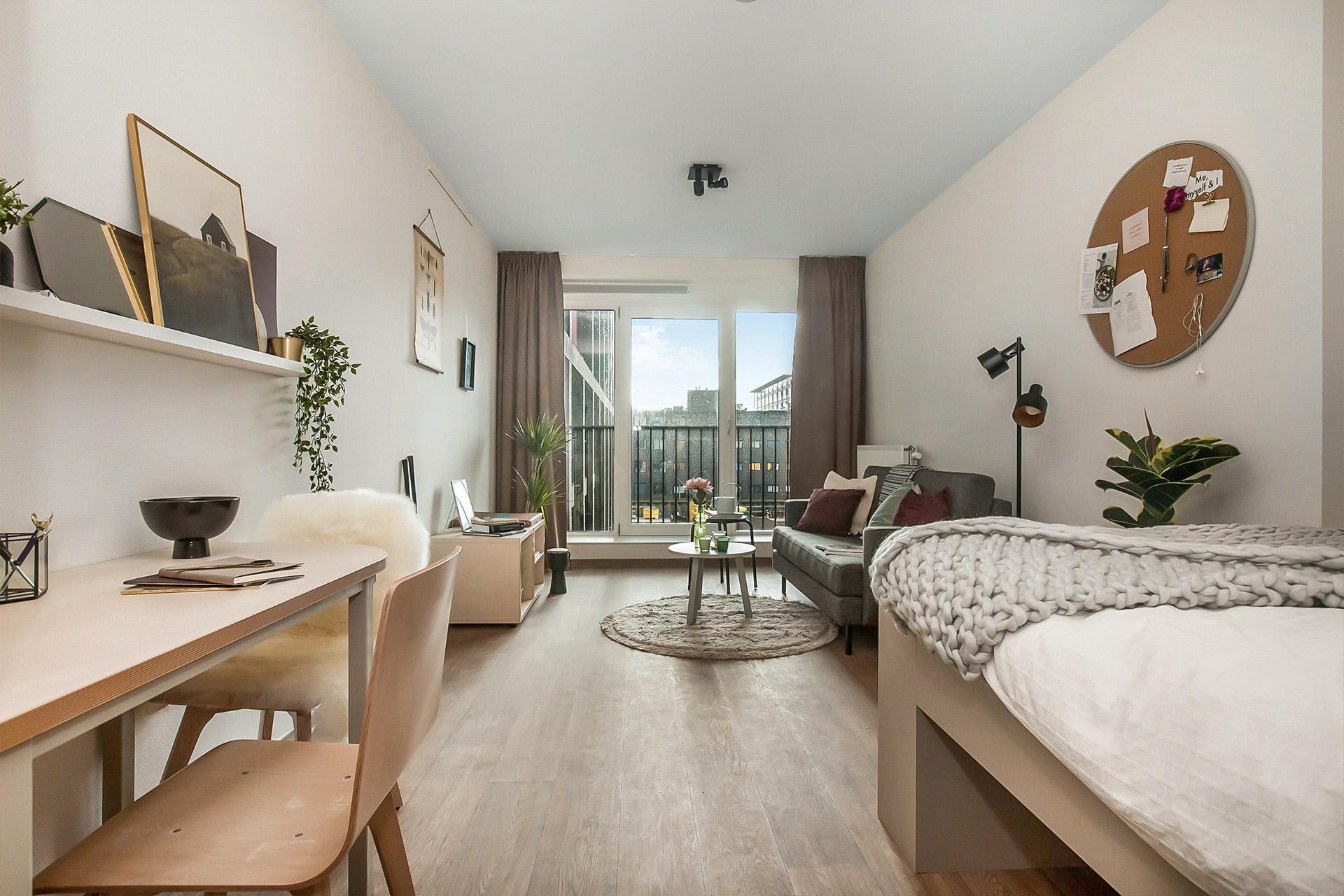 OurDomain Amsterdam South East Executive Plus Studio interior design of the room