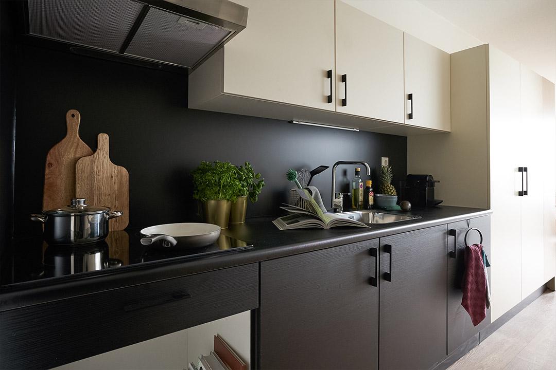 OurDomain Amsterdam South East Executive Studio kitchen