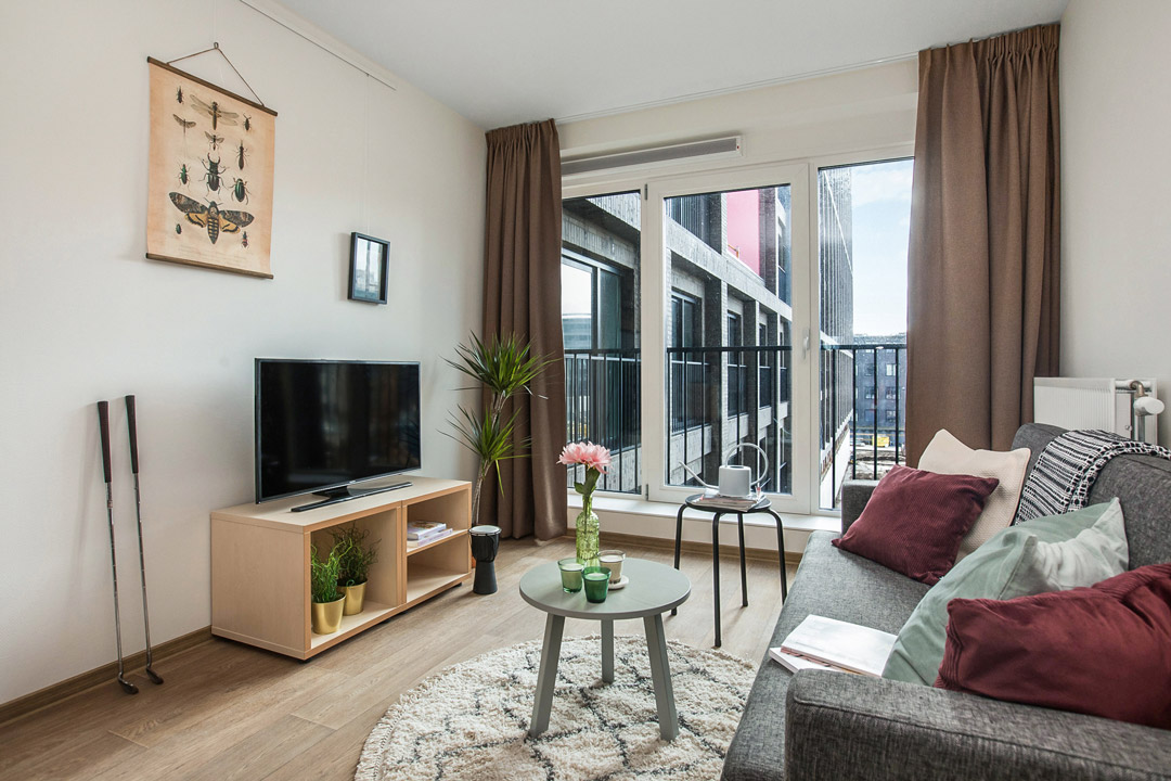 OurDomain Amsterdam South East furnished studio interior design