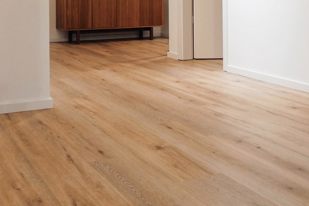 Detail of floor of unfurnished 2-bedroom superior apartment in OurDomain Amsterdam South East