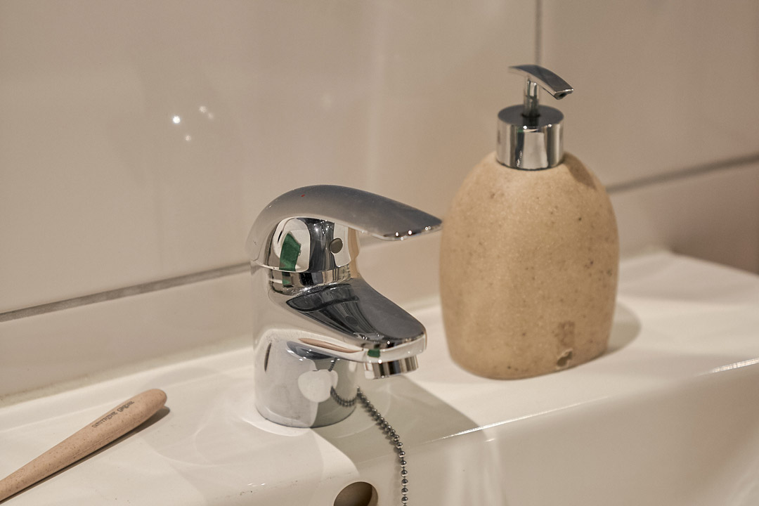 Detail of sink of unfurnished 2-bedroom superior apartment in OurDomain Amsterdam South East