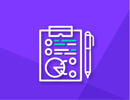 marketing and sales icon with clipboard and metrics