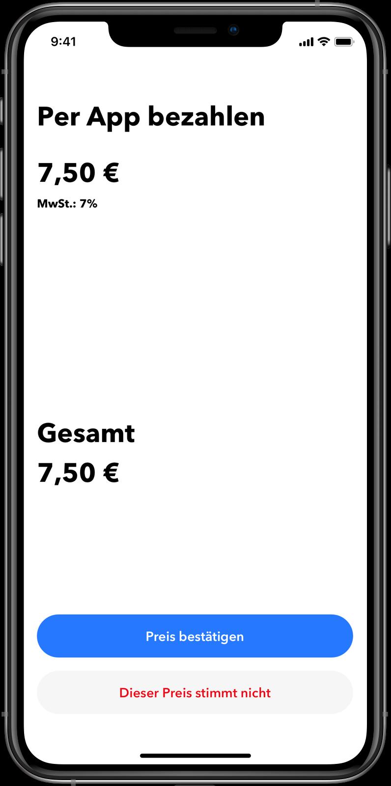 Taxi Software Kunden-App: Nahtlose In-App Bezahlungen