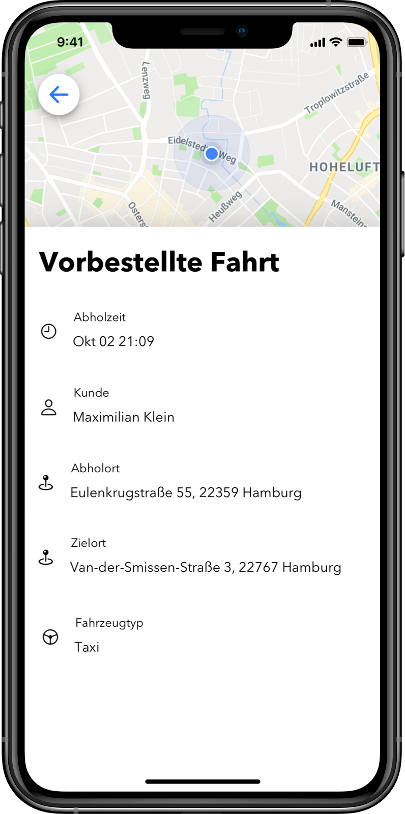 Driver App: See all scheduled bookings