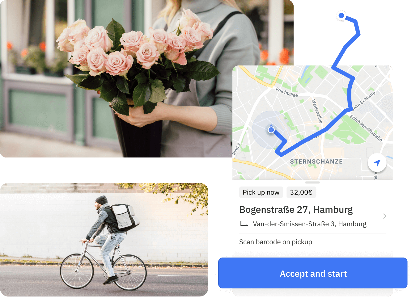 Instant flower delivery