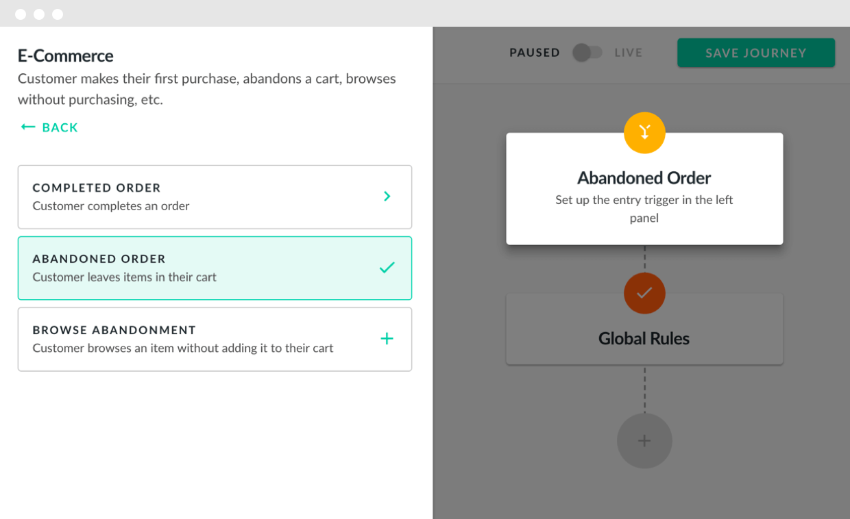 Hive.co Email Automations Journey Builder Product Screenshot