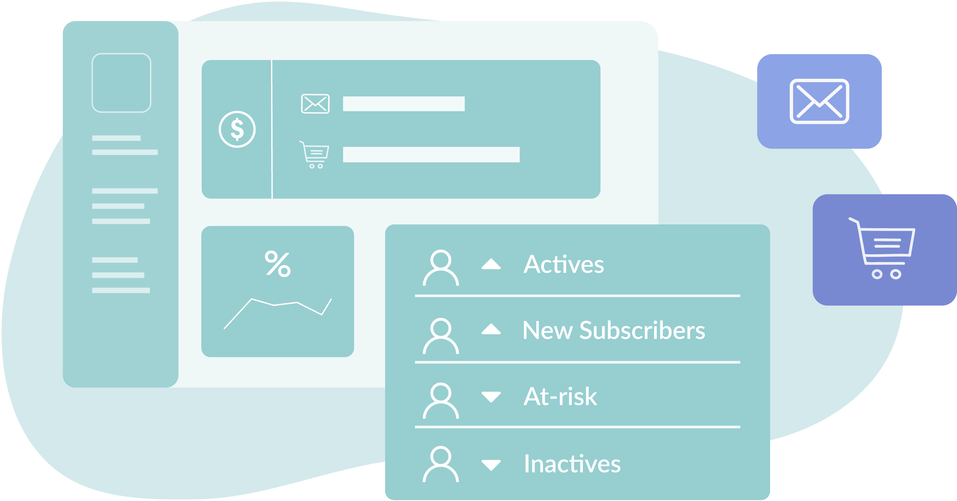 Illustration of Hive email marketing dashboard