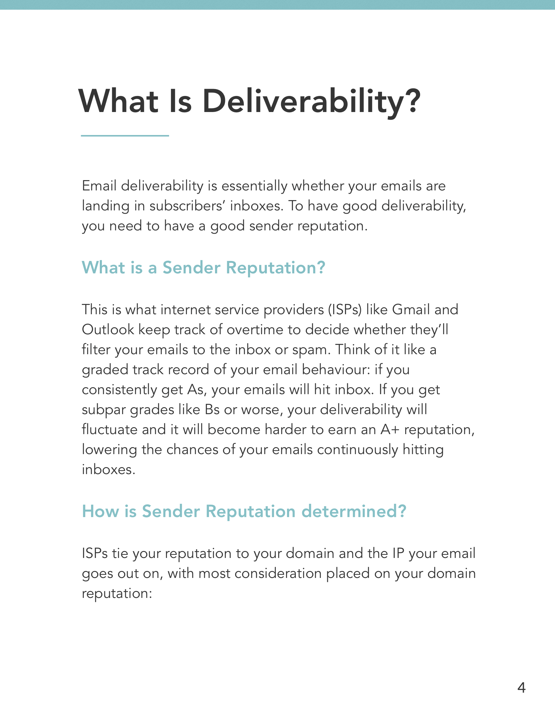 Hive.co Email Deliverability Guide Preview Page 4