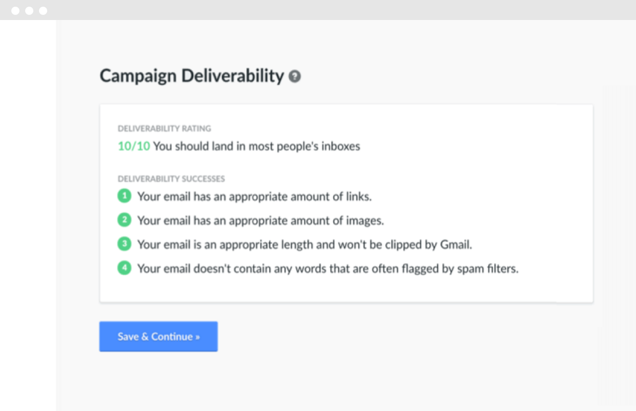 Hive.co Campaign Deliverability Rating Product Screenshot