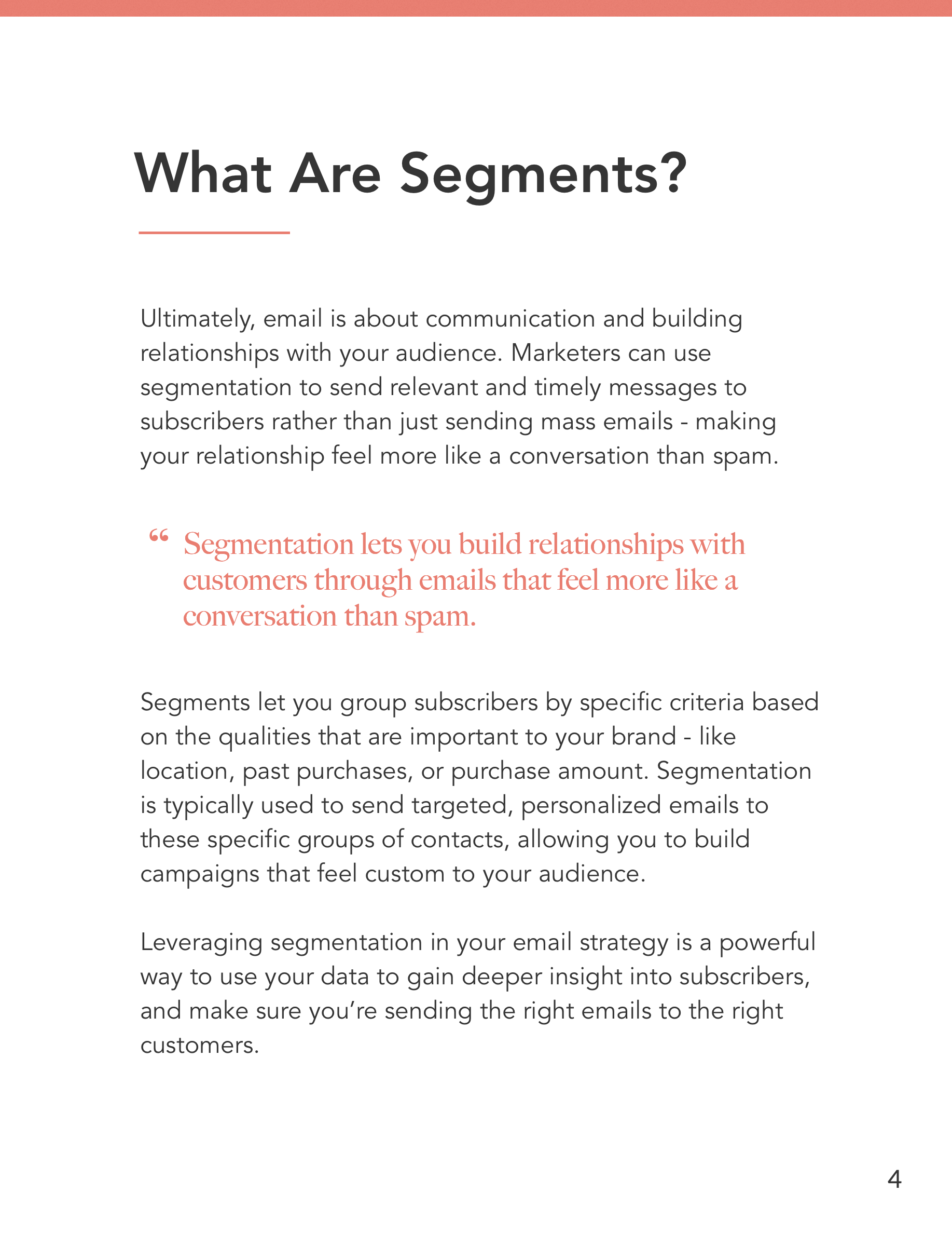 Hive.co Email Segmentation Guide Preview Page 4