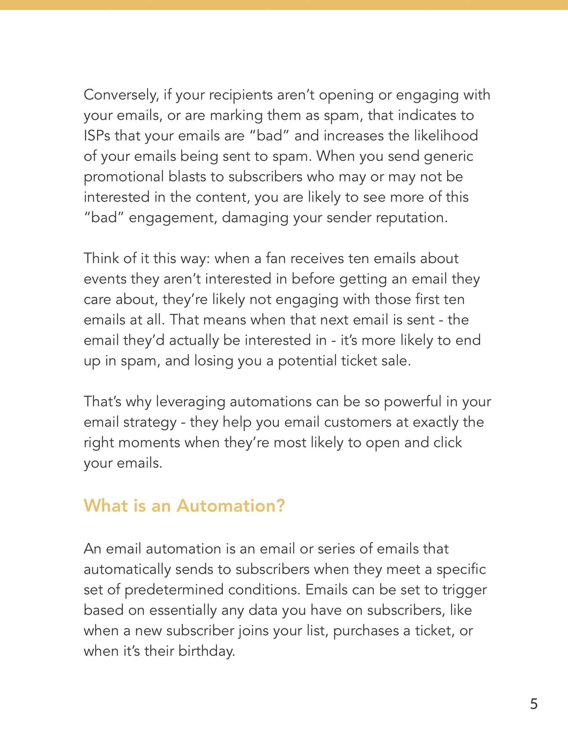 Hive.co Email Automations for Event Marketers Guide Preview Page 5