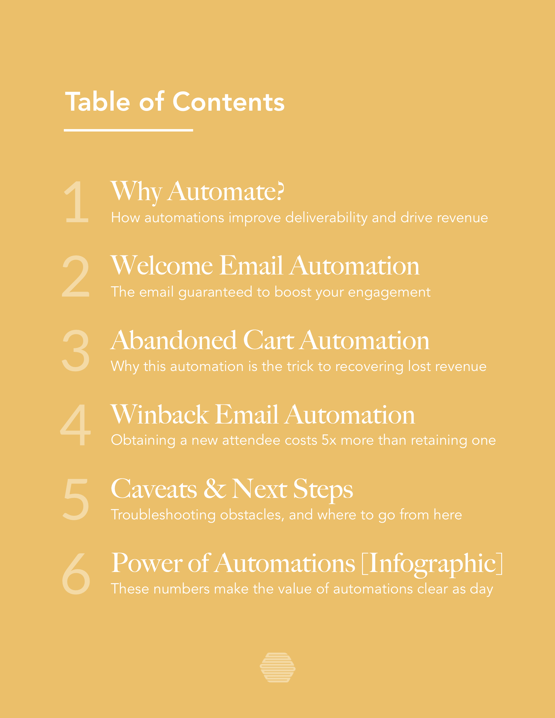 Hive.co Email Automations for Event Marketers Guide Preview Page 3