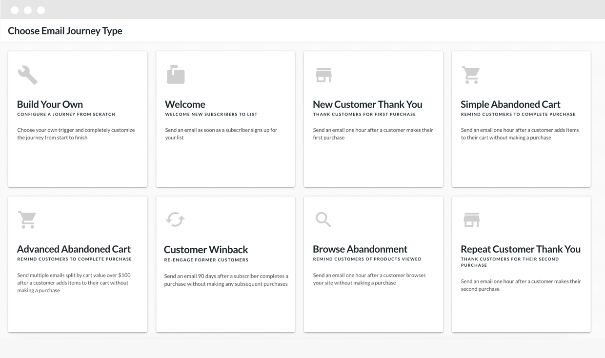 Hive abandoned order ecommerce email automation product screenshot