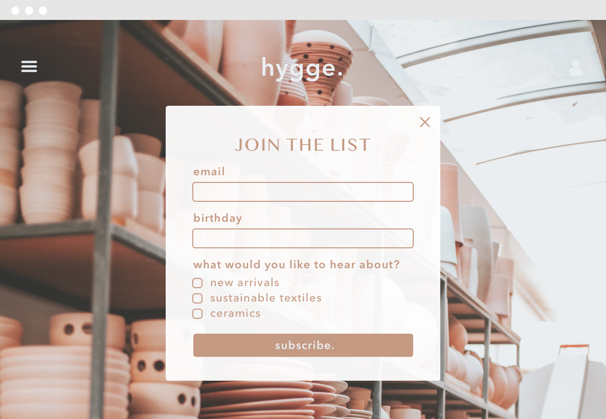 Hive seamless list building tools for ecommerce