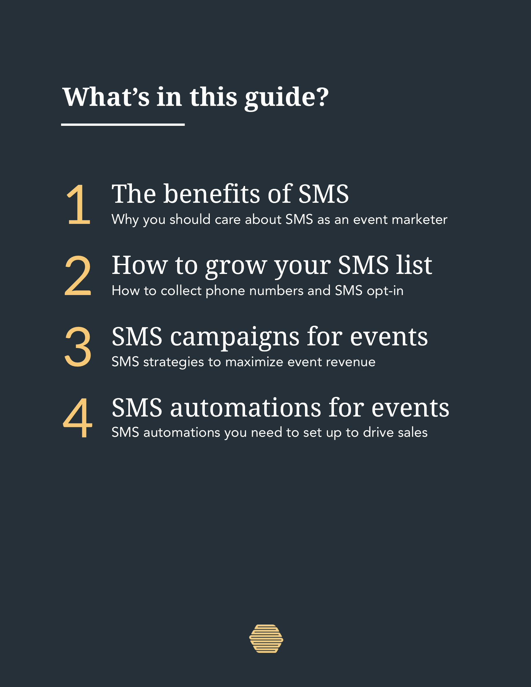 SMS for Events Guide Page 2