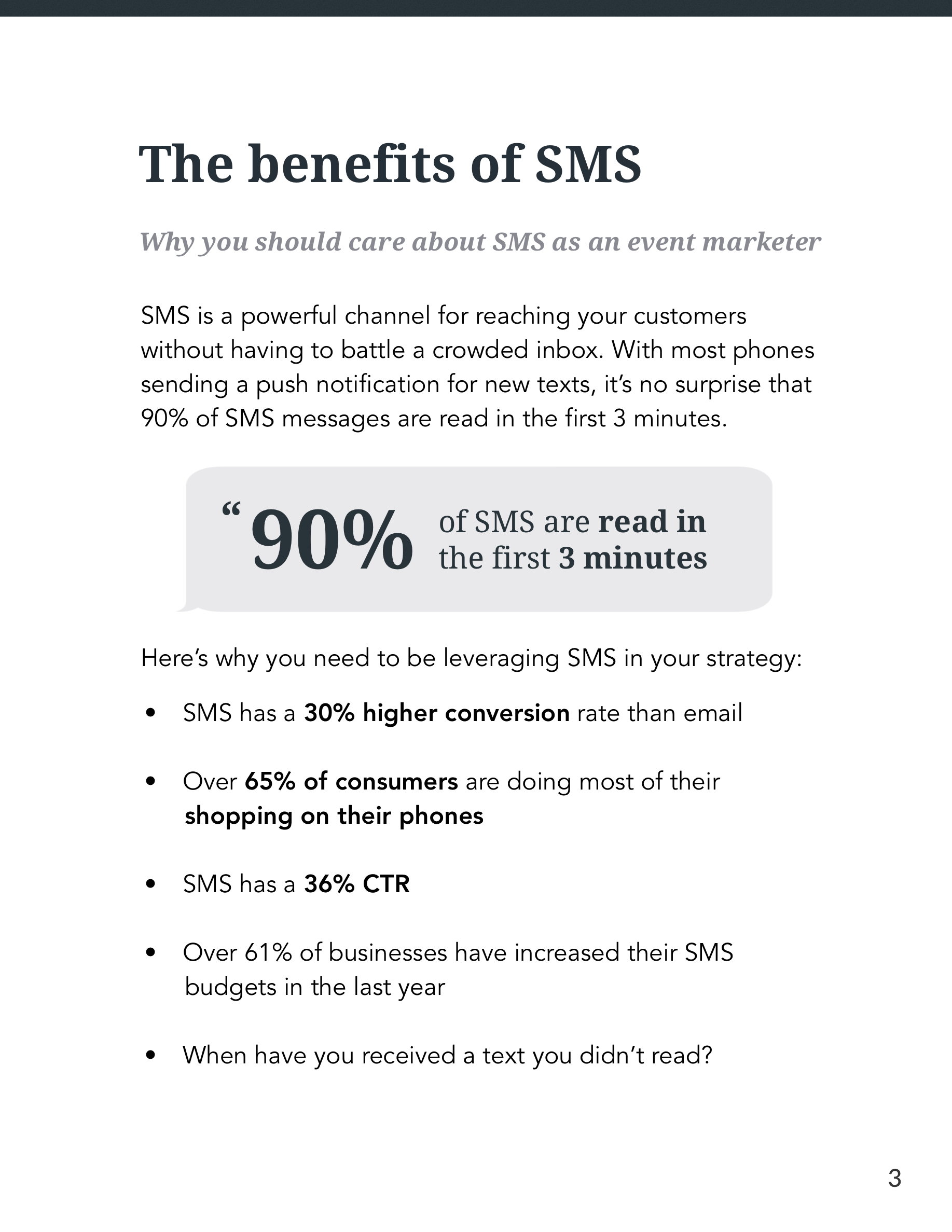 SMS for Events Guide Page 3