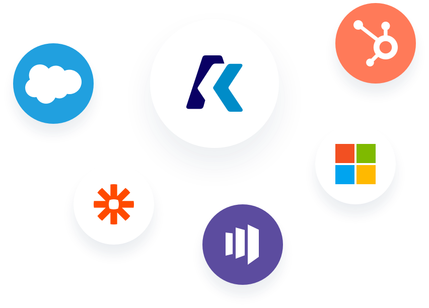 Image of logos from Salesforce, Zapier, Marketo, Oracle, HubSpot