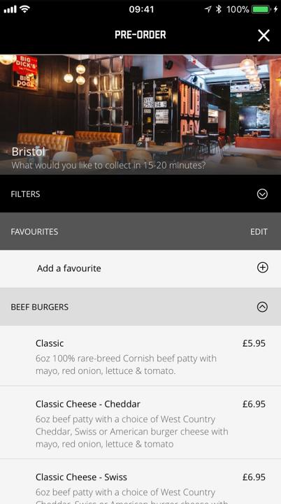 Hubbox restaurant QSR mobile app pre order screenshot