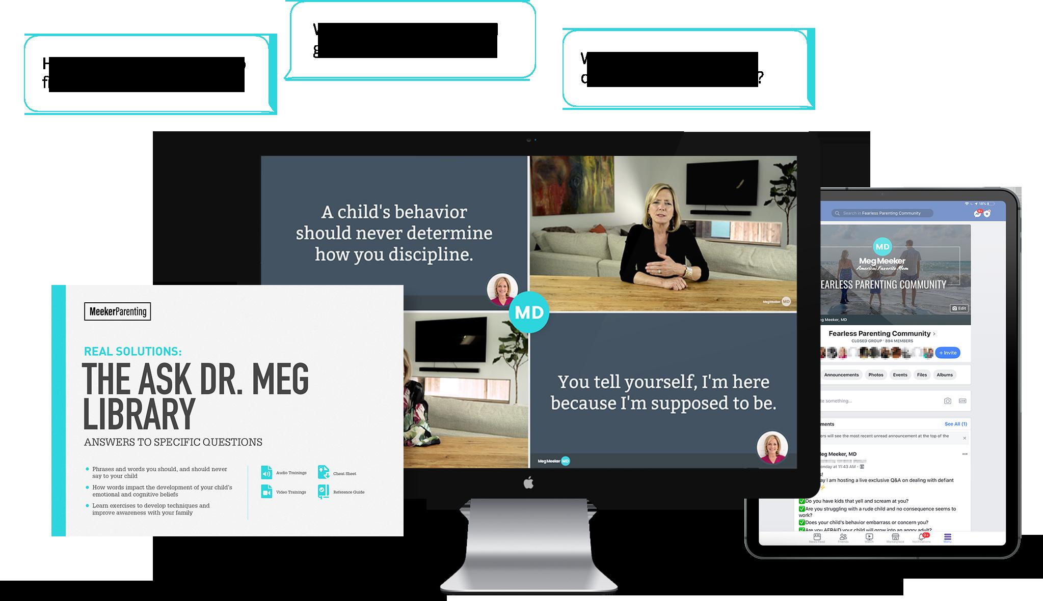 Ask Dr Meg Library screenshots