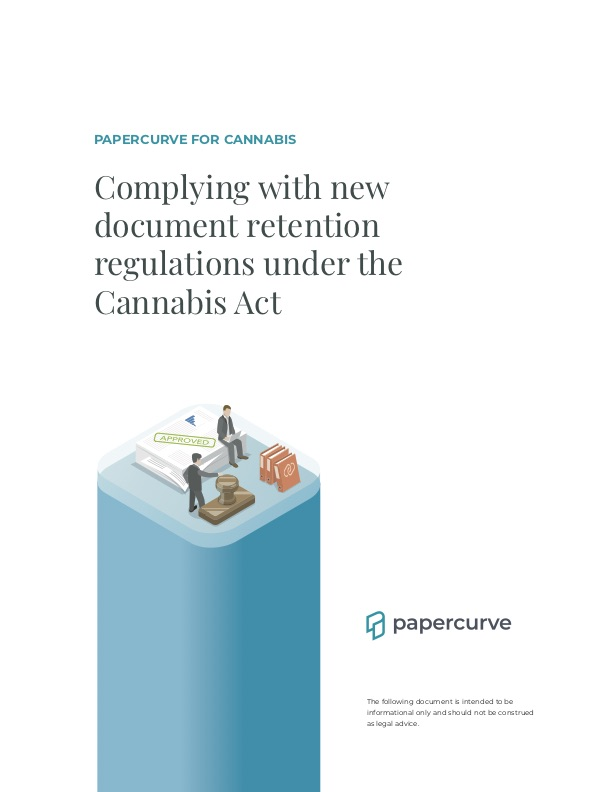 Cover page of: Complying With Document Retention Regulations Under The Cannabis Act
