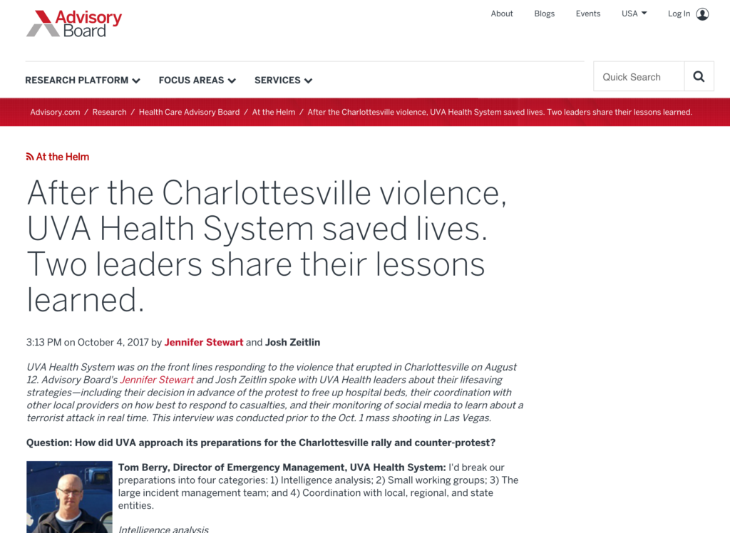 Veoci Leveraged in Response to Charlottesville Violence