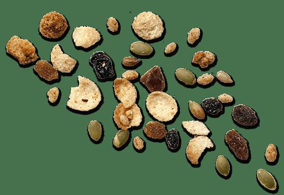 Muesli scattered