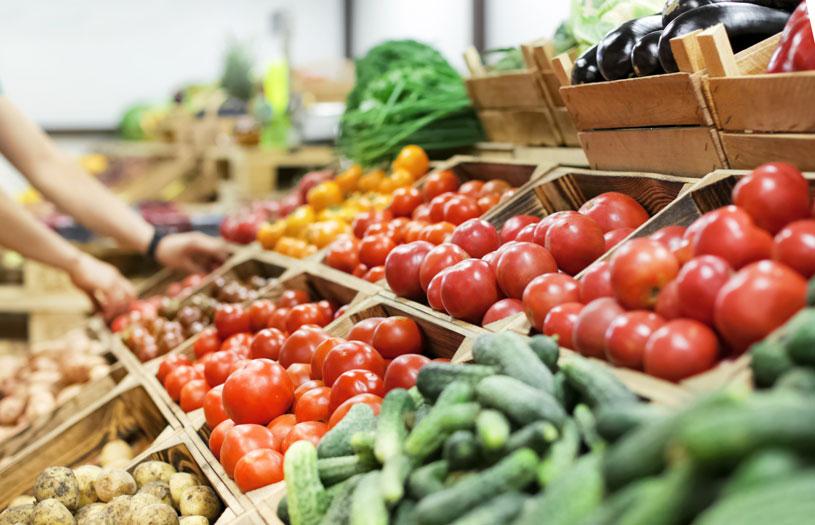 organic produce in shop