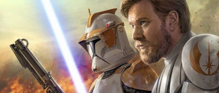 Obi-Wan Kenobi and Commander Cody during the Clone Wars