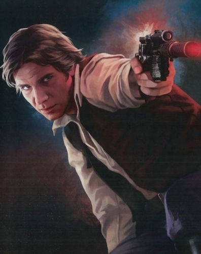 Han Solo and his trusty DL-44 blaster.