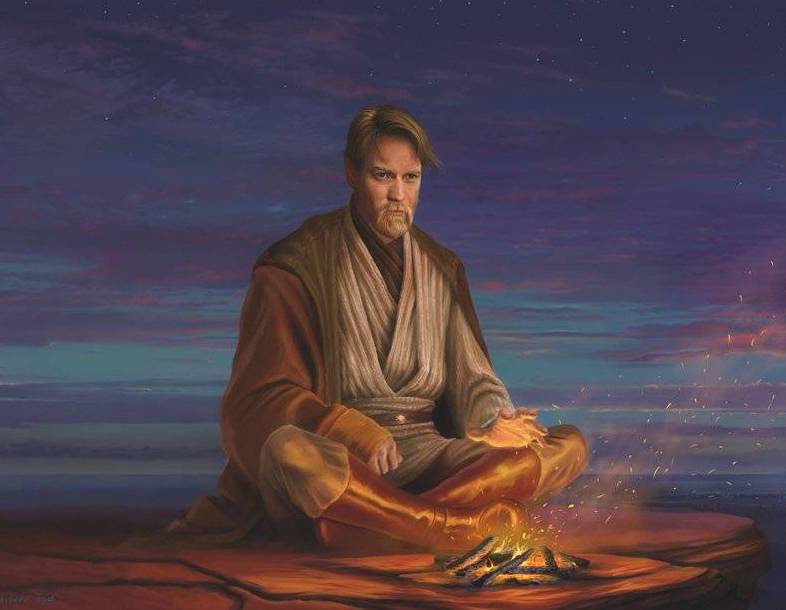 Obi-Wan Kenobi in the Jundland Wastes.