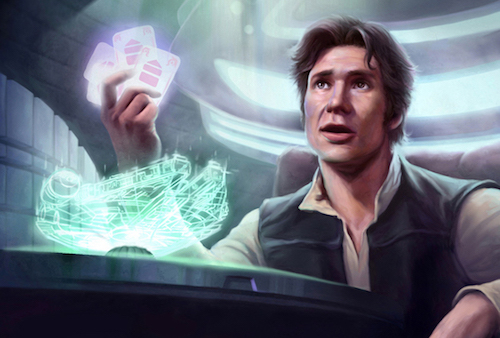 Han Solo in a game of sabacc.