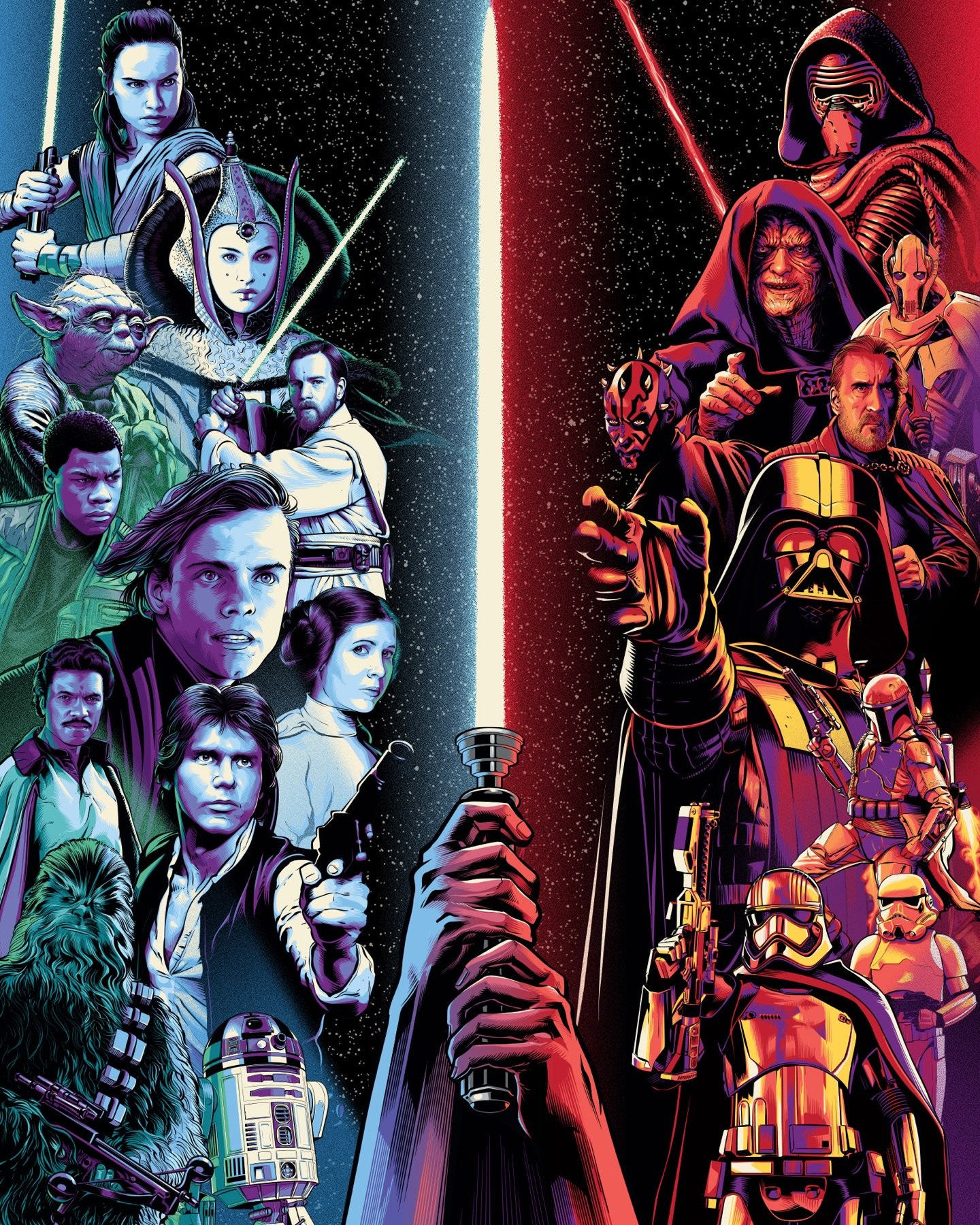 Star Wars Celebration Chicago logo poster