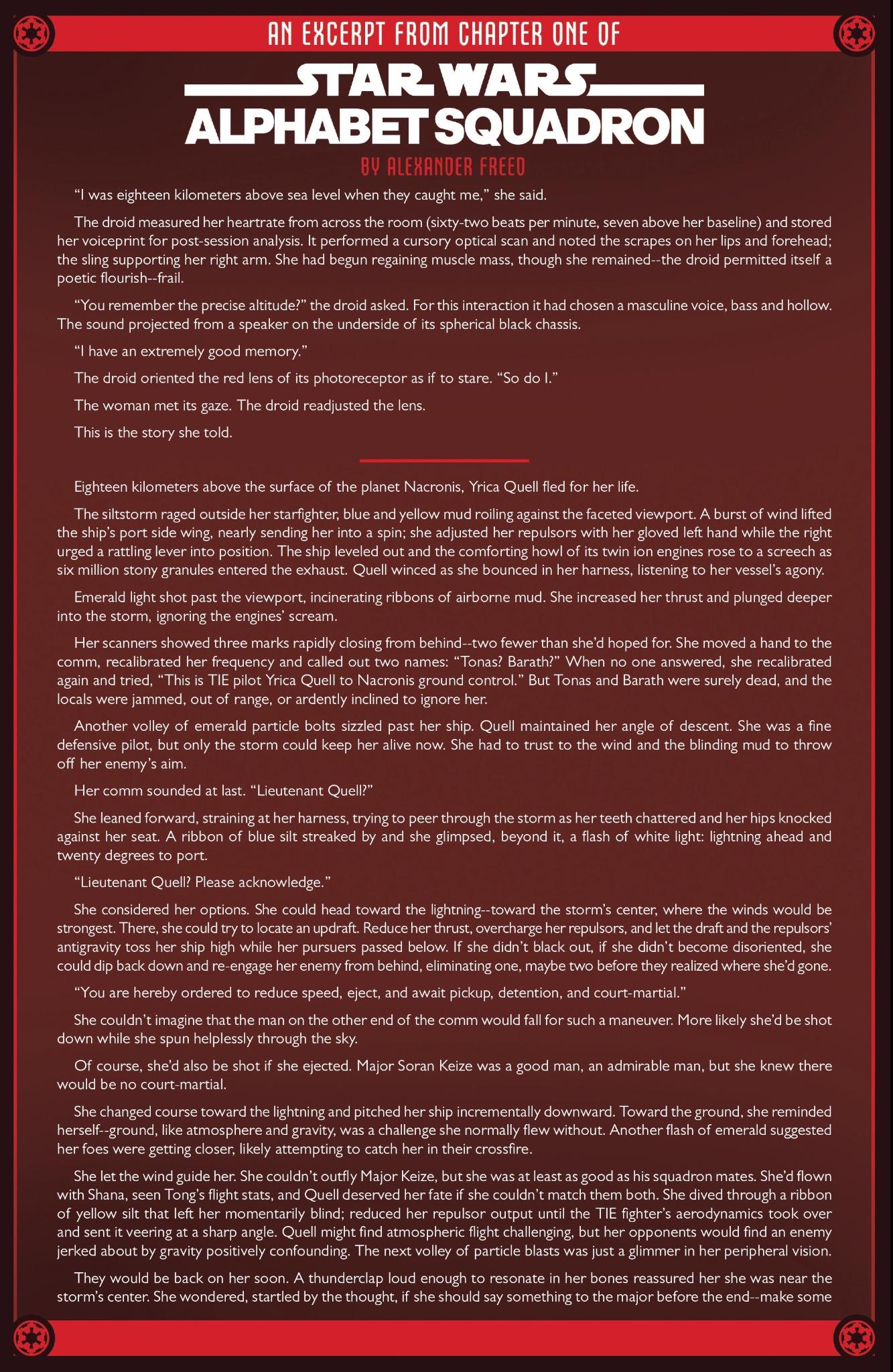 Alphabet Squadron Excerpt Page 1