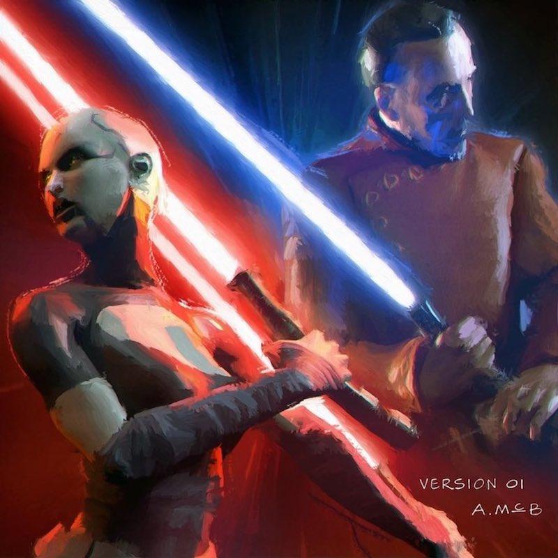 Original concept art for Dooku: Jedi Lost cover