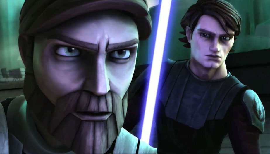 Obi-Wan and Anakin as seen in The Clone Wars television series