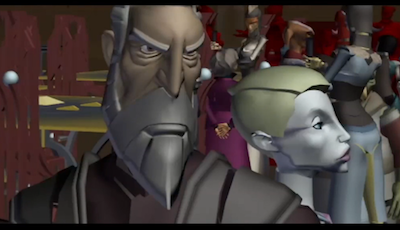 Unfinished footage of The Clone Wars arc on which Dark Disciple was based