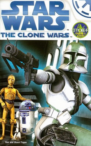 The Clone Wars: Sticker Coloring and Activity