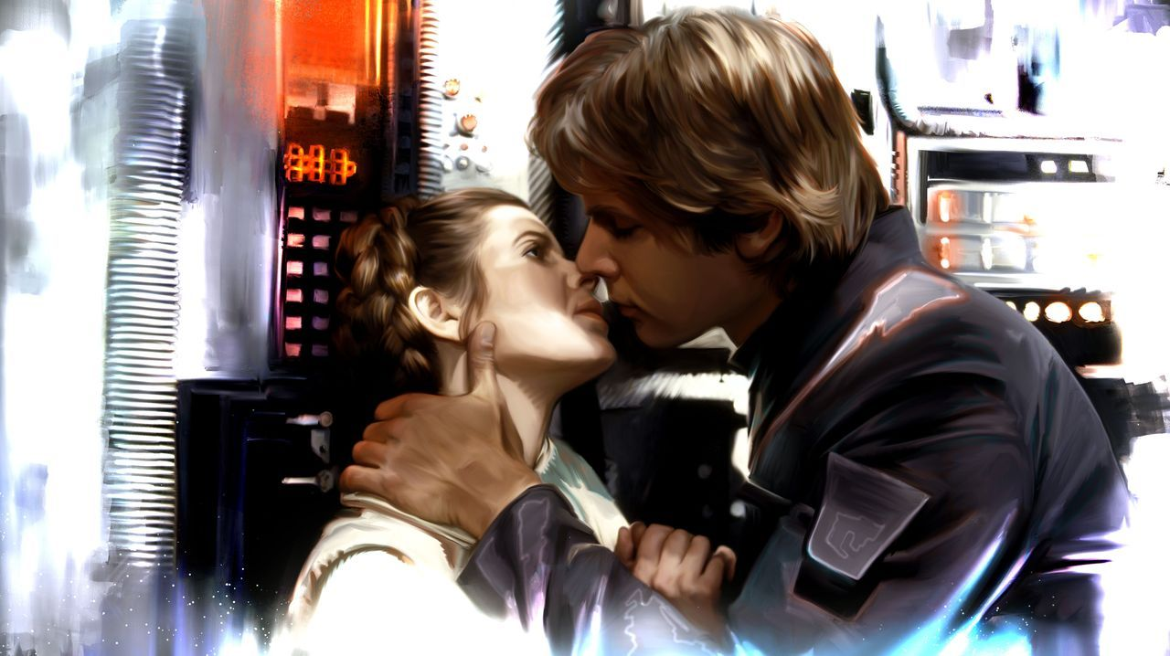 Leia & Han by Brian Rood