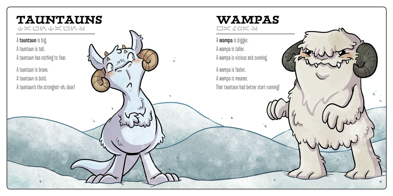 Tauntauns & Wampas from Star Wars Creatures Big & Small