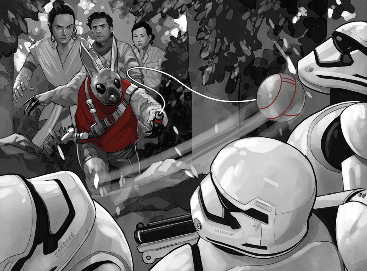 Lim, the Zixon, taking out the First Order by Phil Noto