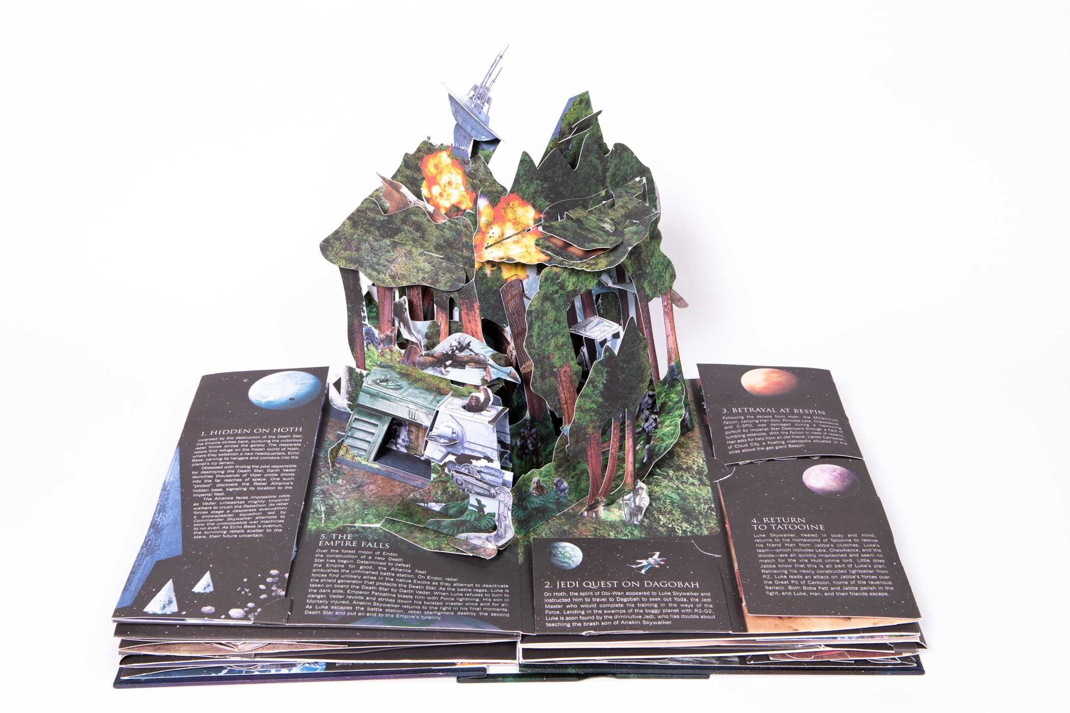 A sample page from the pop-up book